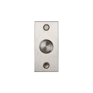 BOUTON POUSSOIR INOX ENCASTRE A/CONTACT NO/NF