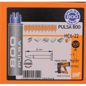 PACK CLOUEUR GAZ PULSA 800P+ CLOUS C6