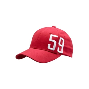 CASQUETTE BRODERIE 59 ROUGE