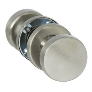 BOUTON DOUBLE CYLINDRE PLAT S/ROSACE INOX