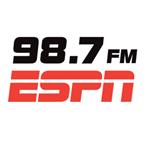 98.7 FM ESPN New York's logo'
