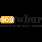WBUR-FM's logo'