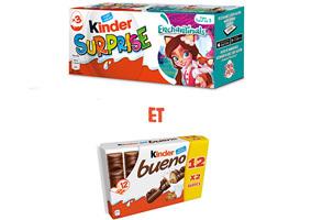 Visuel Kinder Surprise et Kinder Bueno lait