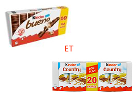 Visuel Kinder Bueno et Kinder Country