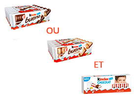 Visuel Kinder Bueno et Kinder Chocolat