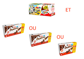 Visuel Kinder Surprise et Kinder Bueno