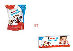 Visuel Kinder Schoko-bons et Kinder Chocolat