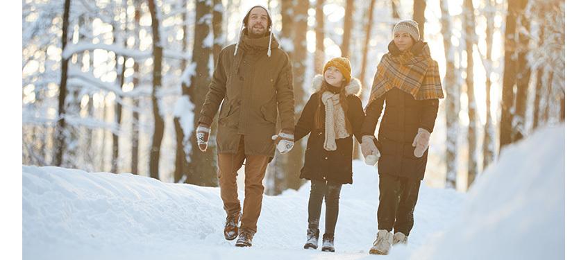 LA FAMILLE : 1 - LA FATIGUE : 0. Nos astuces pour être en pleine forme cet hiver.