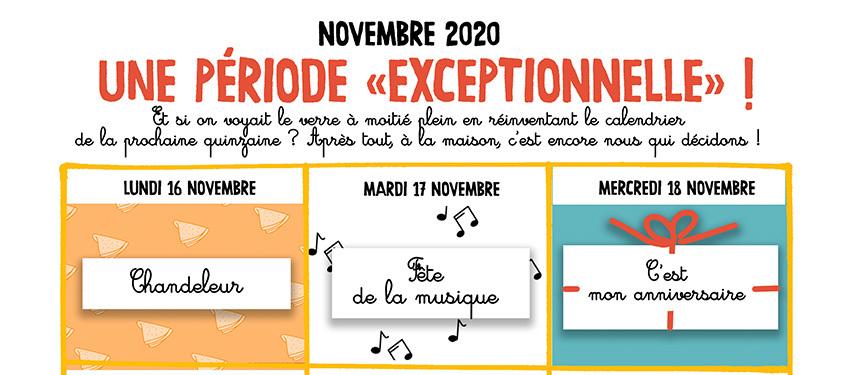 """Novembre 2020 : un mois """"exceptionnel"""""""