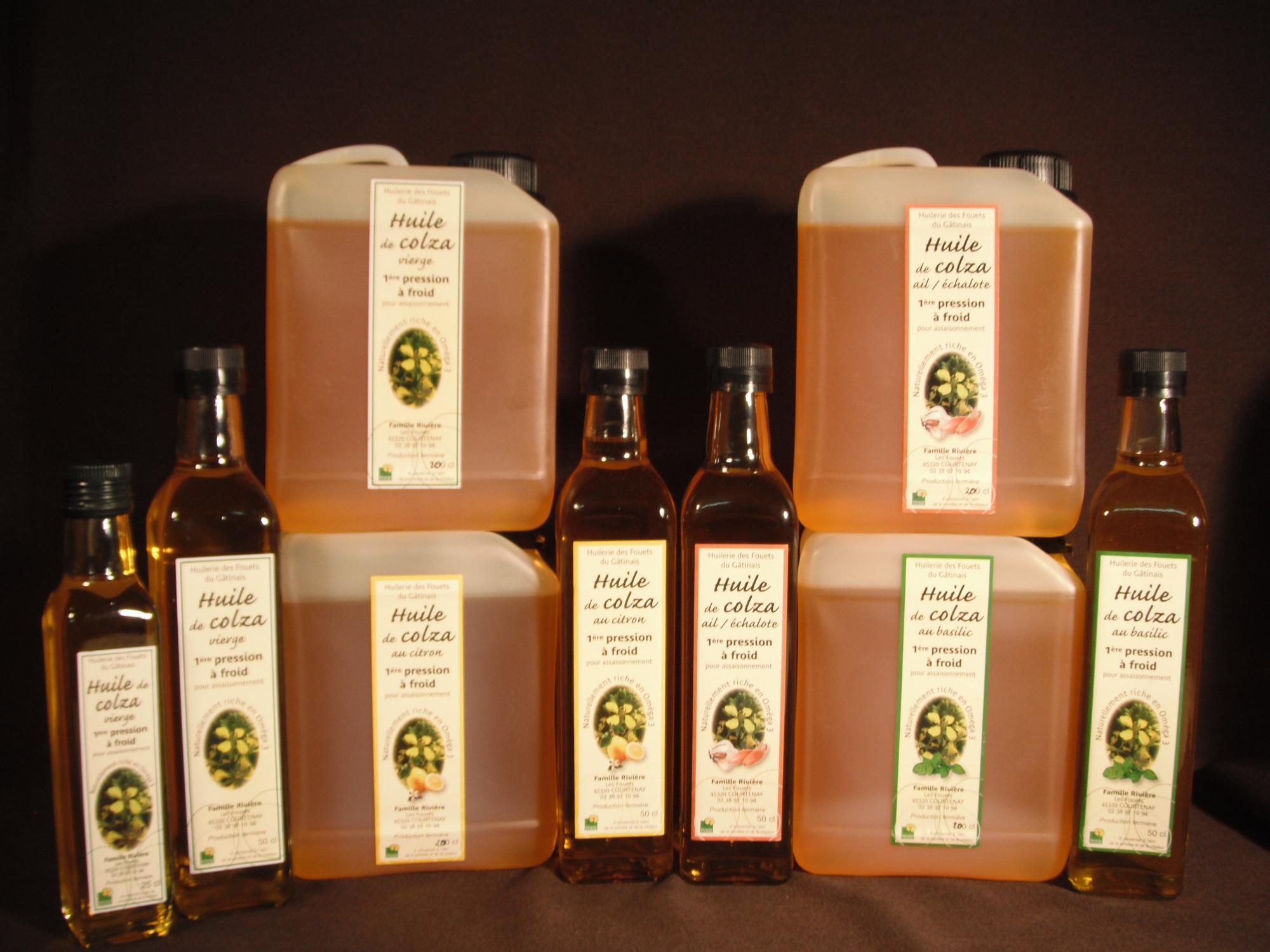 Les huiles produites
