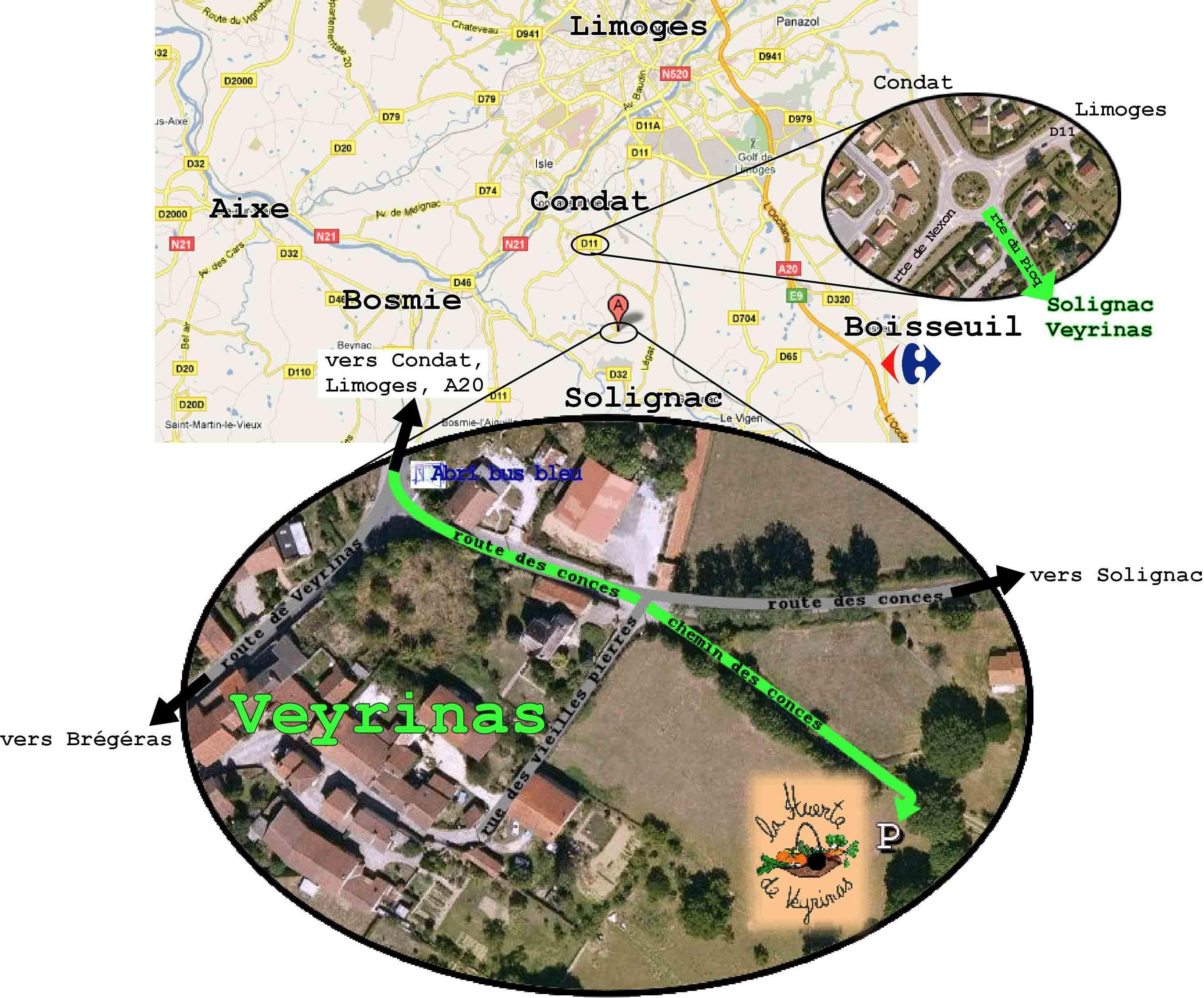 La Huerta de Veyrinas - plan