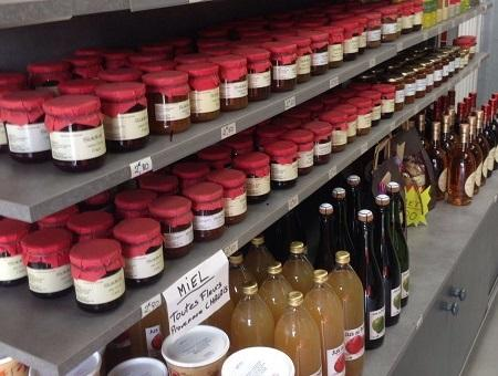 Jus, Confitures, condiments, huiles
