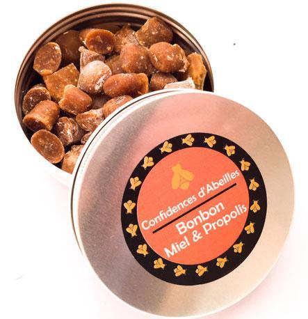 Bonbon Miel & Propolis. Élaboré avec un miel et une propolis exceptionels, ils sont agréables à sucer et parfait pour les petits maux de bouche.