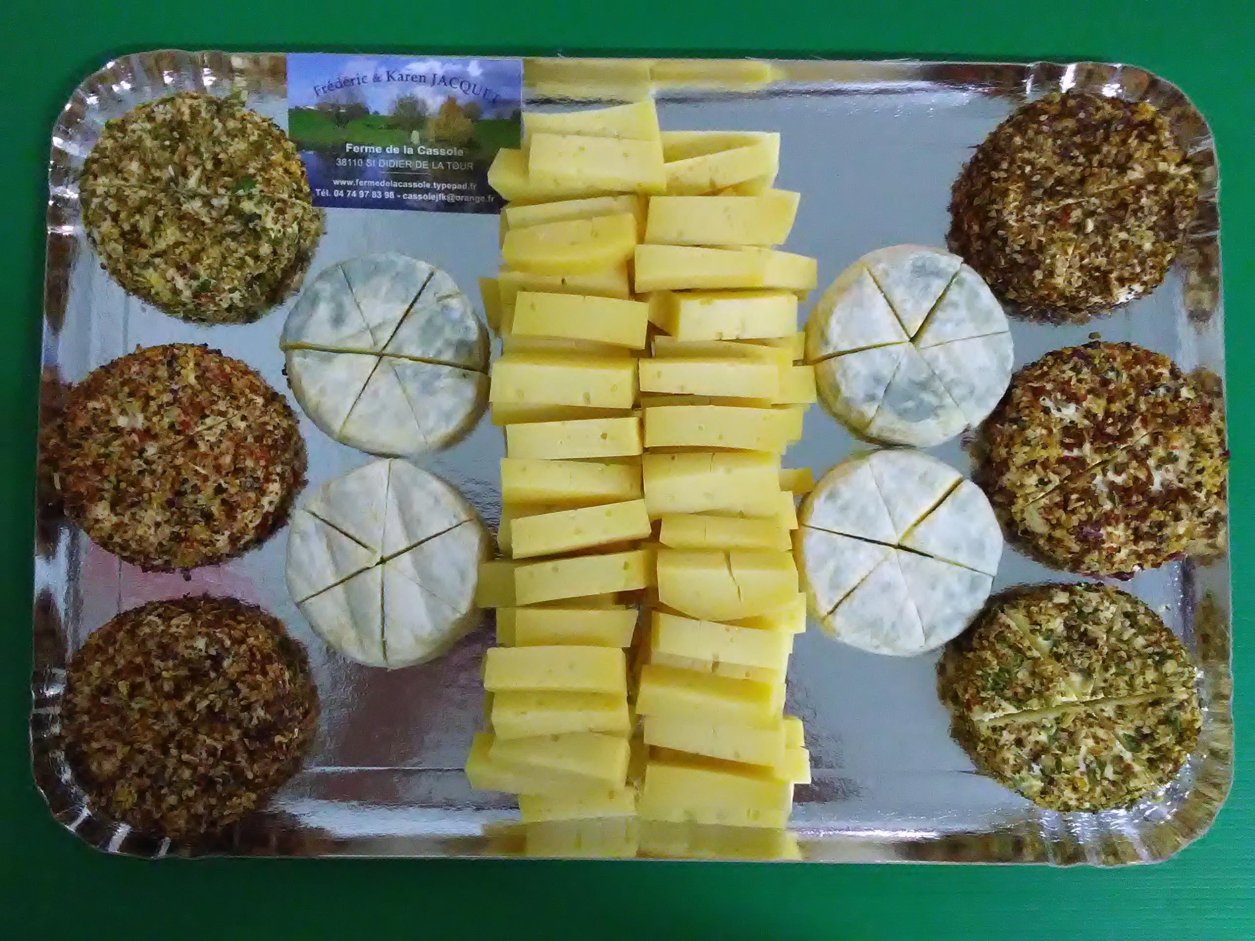 plateau de fromages ferme de la Cassole