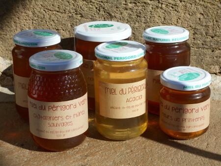 les différents miels du Périgord vert