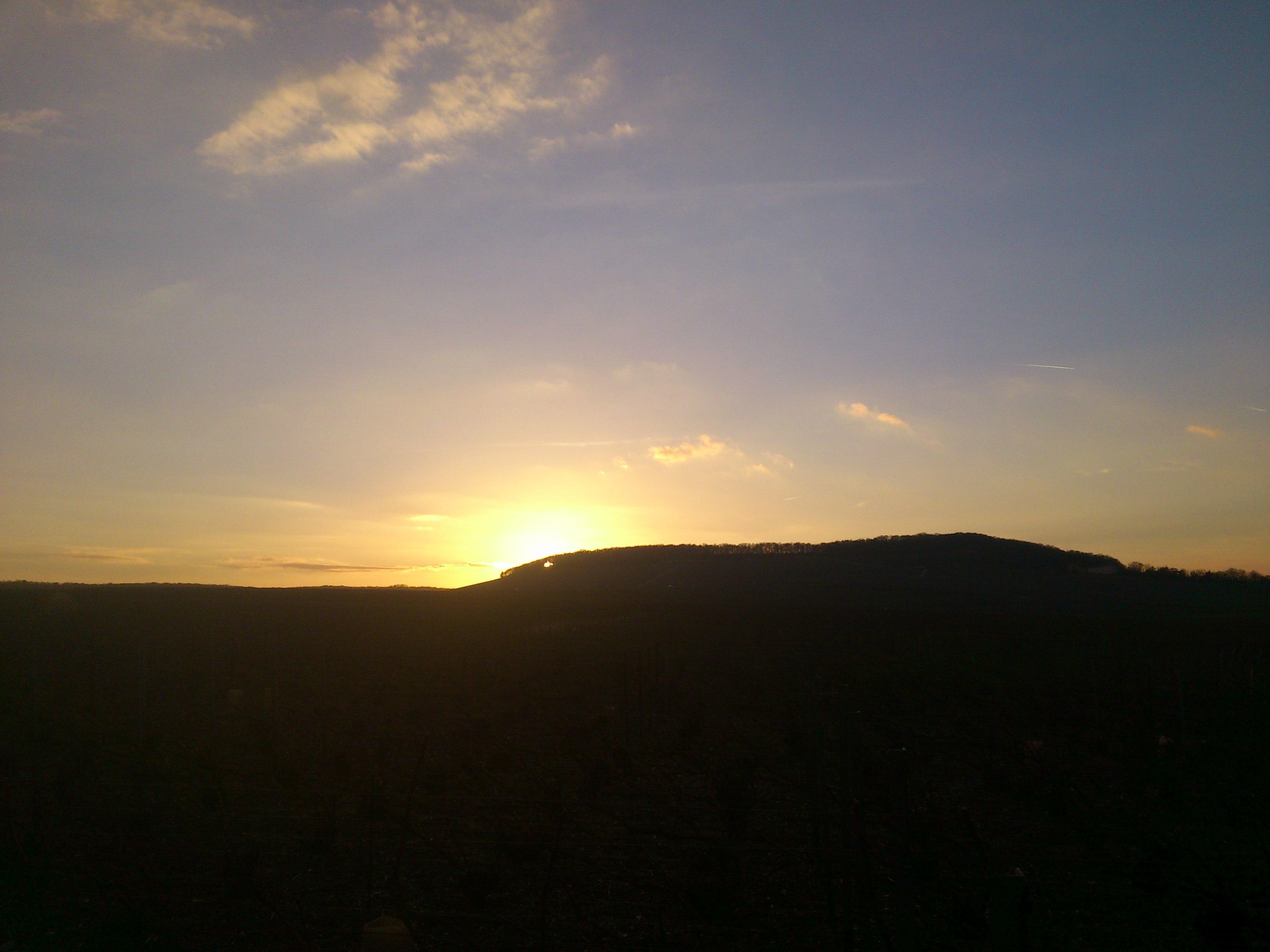 Coucher de soleil sur la Côte des blancs