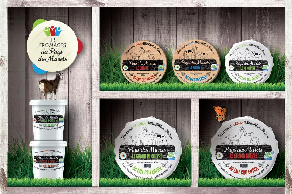 gamme des fromages du Pays des Murets