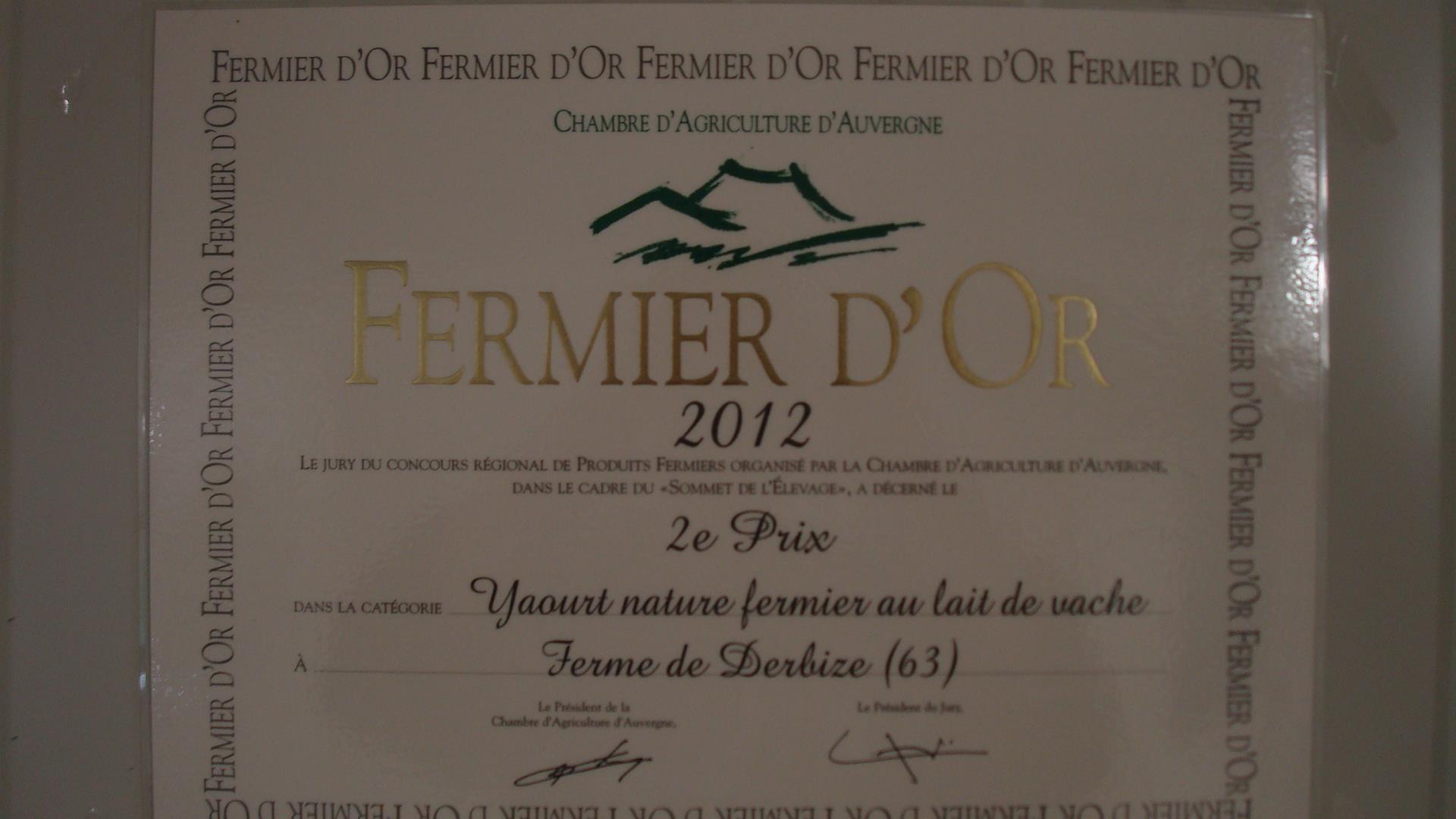 fermier d'or 2012