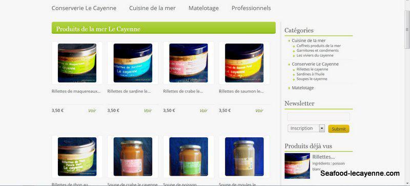 produits de la mer seafood-lecayenne.com vente en ligne