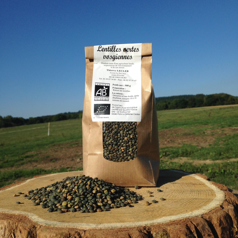 Lentilles Vertes Vosgiennes Bio