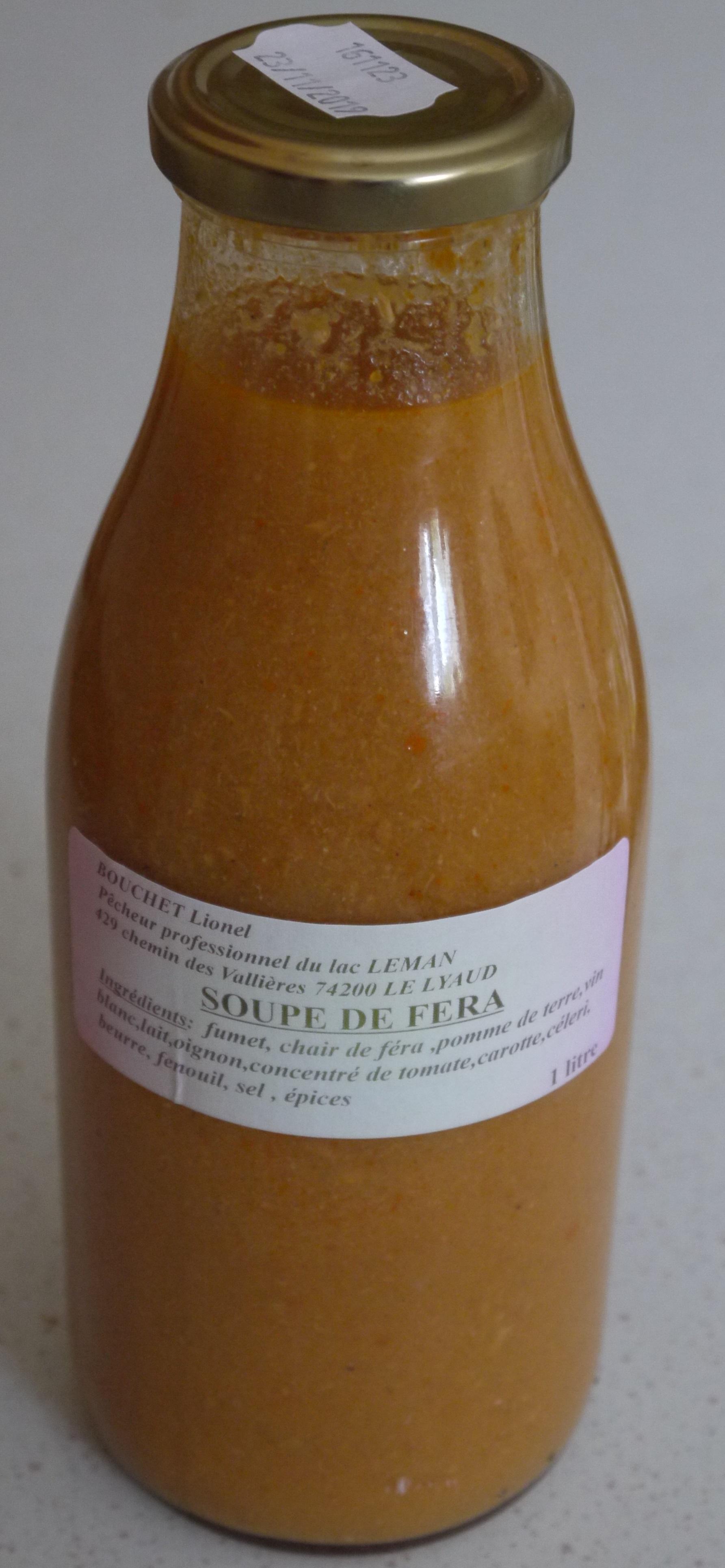 soupe de féra 1 litre
