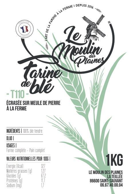 Farine de blé - Complète - T110