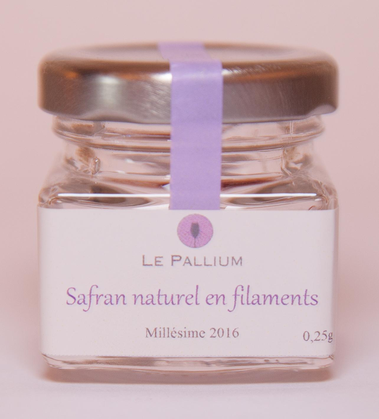 Safran naturel en filaments - Récolte 2016 - 0.25g