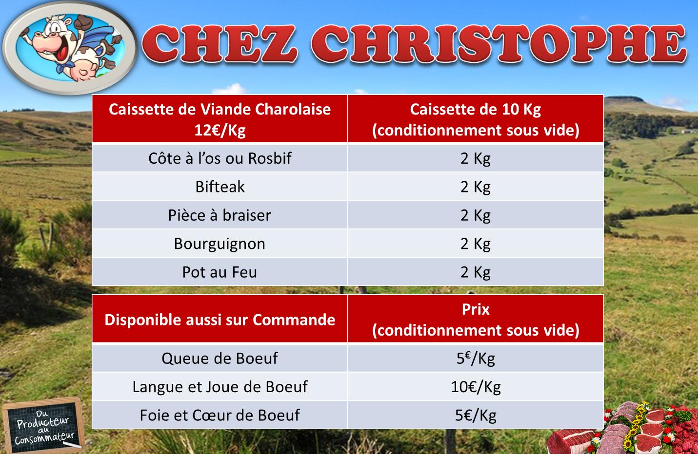 Caissette de 10 Kg de viande de race Charolaise