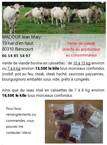 Viande bovine en caissette du producteur au consommateur