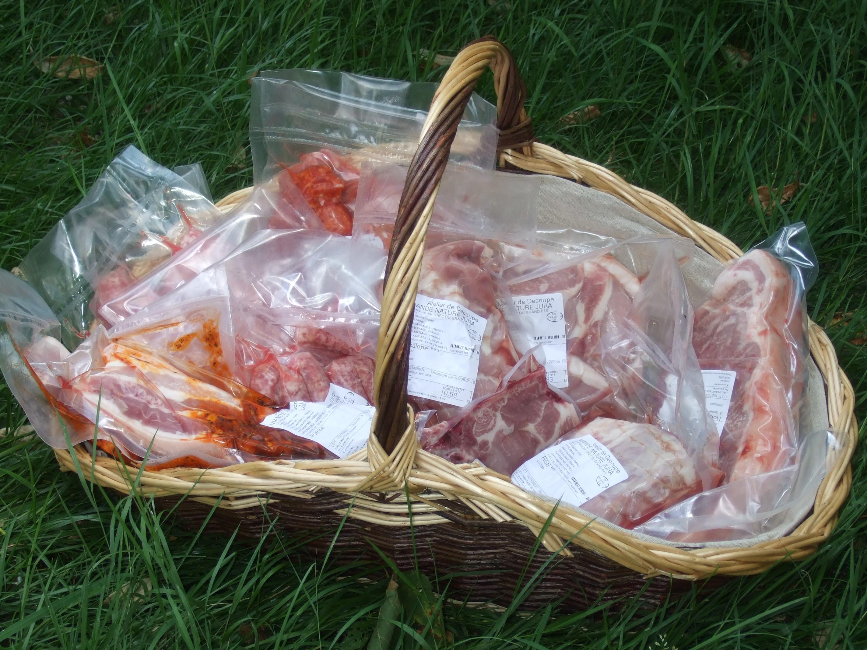 caissette de porc fermier