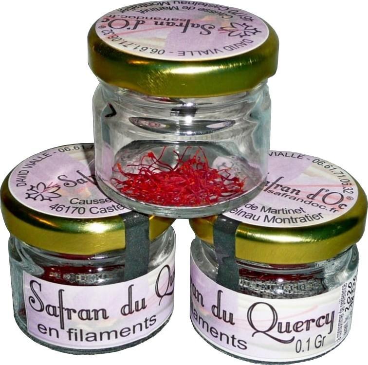 Safran du Quercy en pistils 0,1 Gr