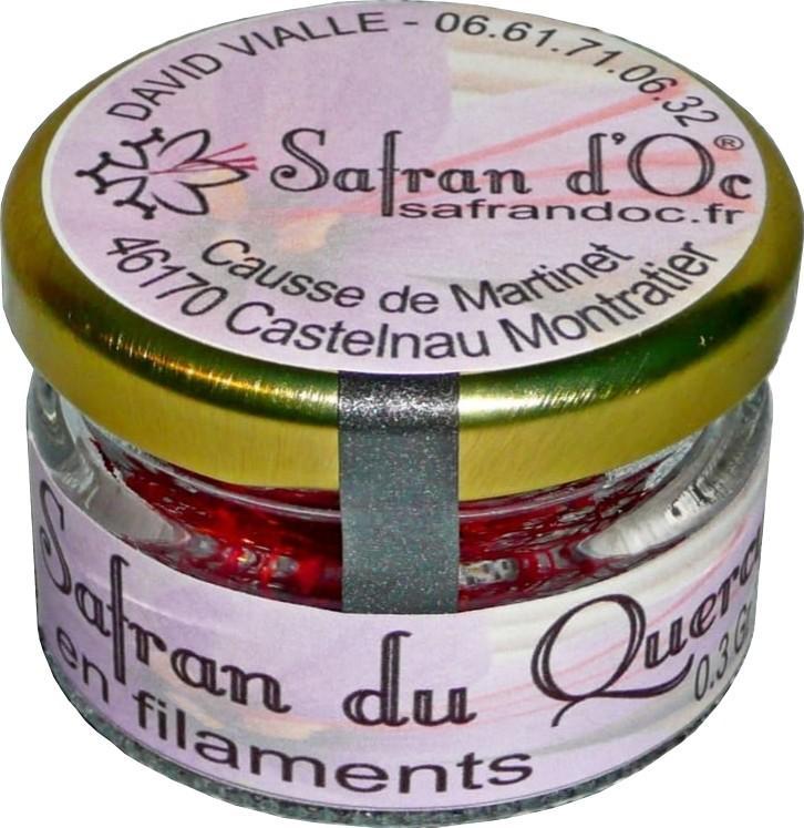 Safran du Quercy en pistils 0,3 Gr