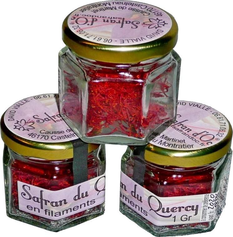 Safran du Quercy en pistils 1 Gr