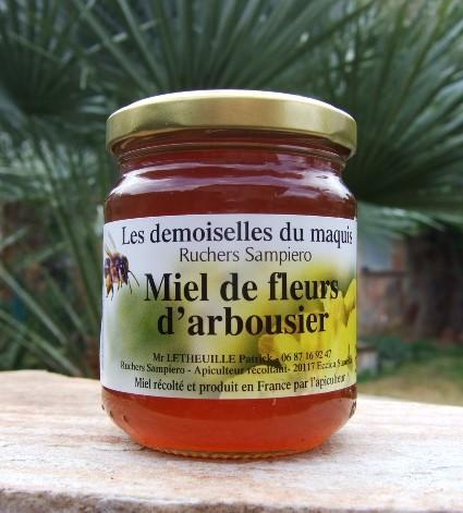 Miel de fleurs d'arbousier 250 g