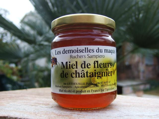 Miel de fleurs de châtaignier 500 g