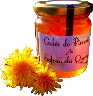 Gelée de pissenlits au safran 250 gr