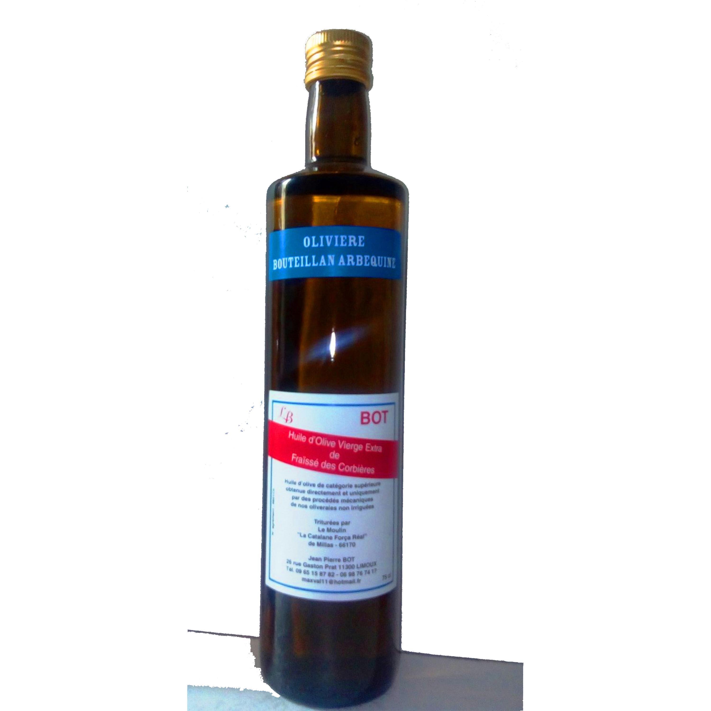 Huile d'olive – Olivière Arbequine Bouteillan