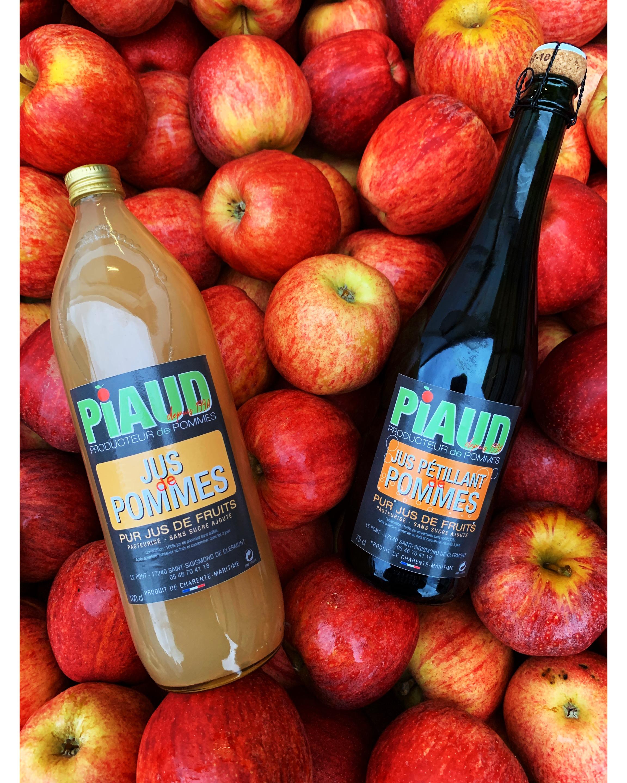 Jus de pomme naturel et pétillant