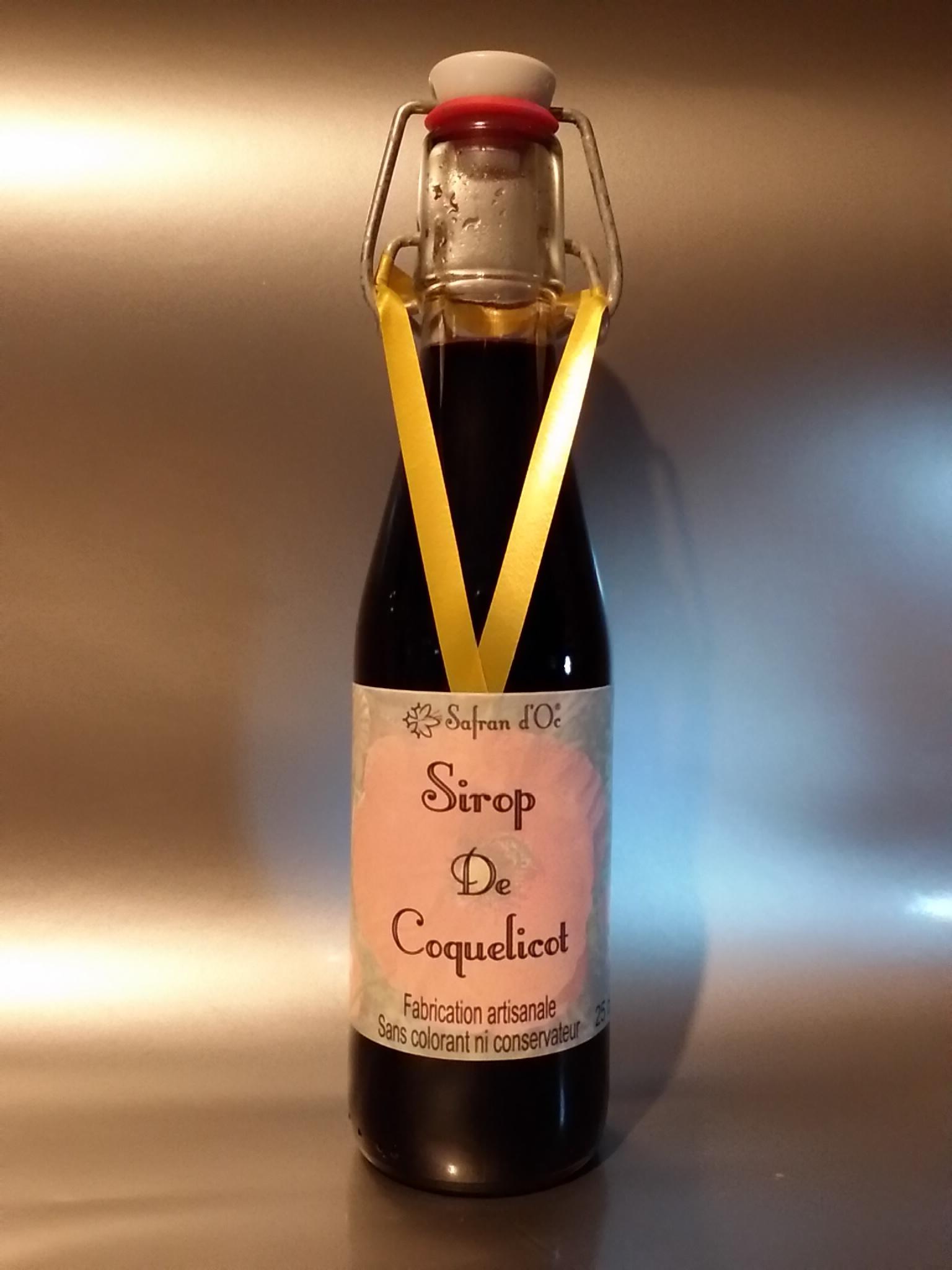 Sirop de coquelicot - 25cl - Safran d'Oc