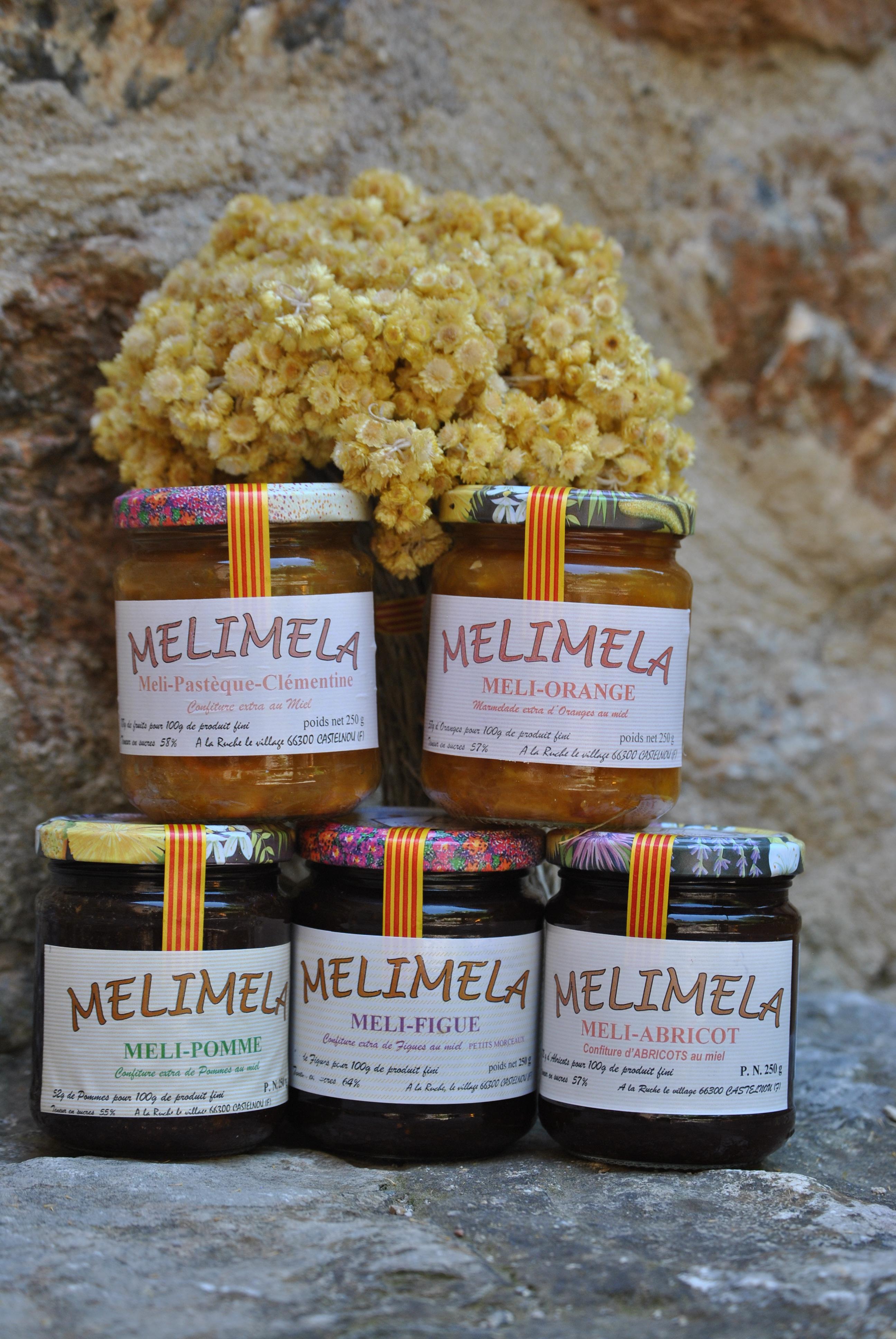 Confiture au miel et fruits bio : 230g