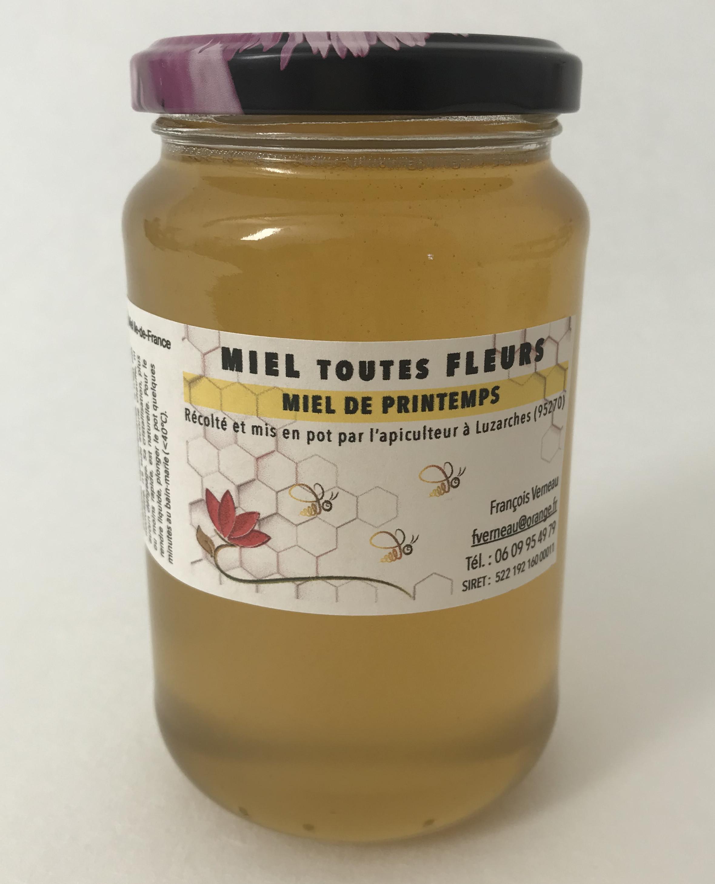 Miel de printemps polyfloral (pot de 500g)