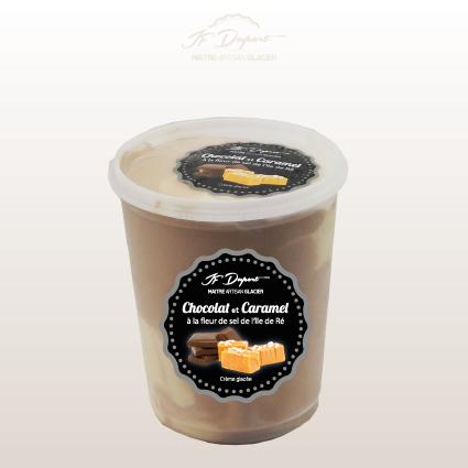 Bac 1L Bi-goût Chocolat Caramel