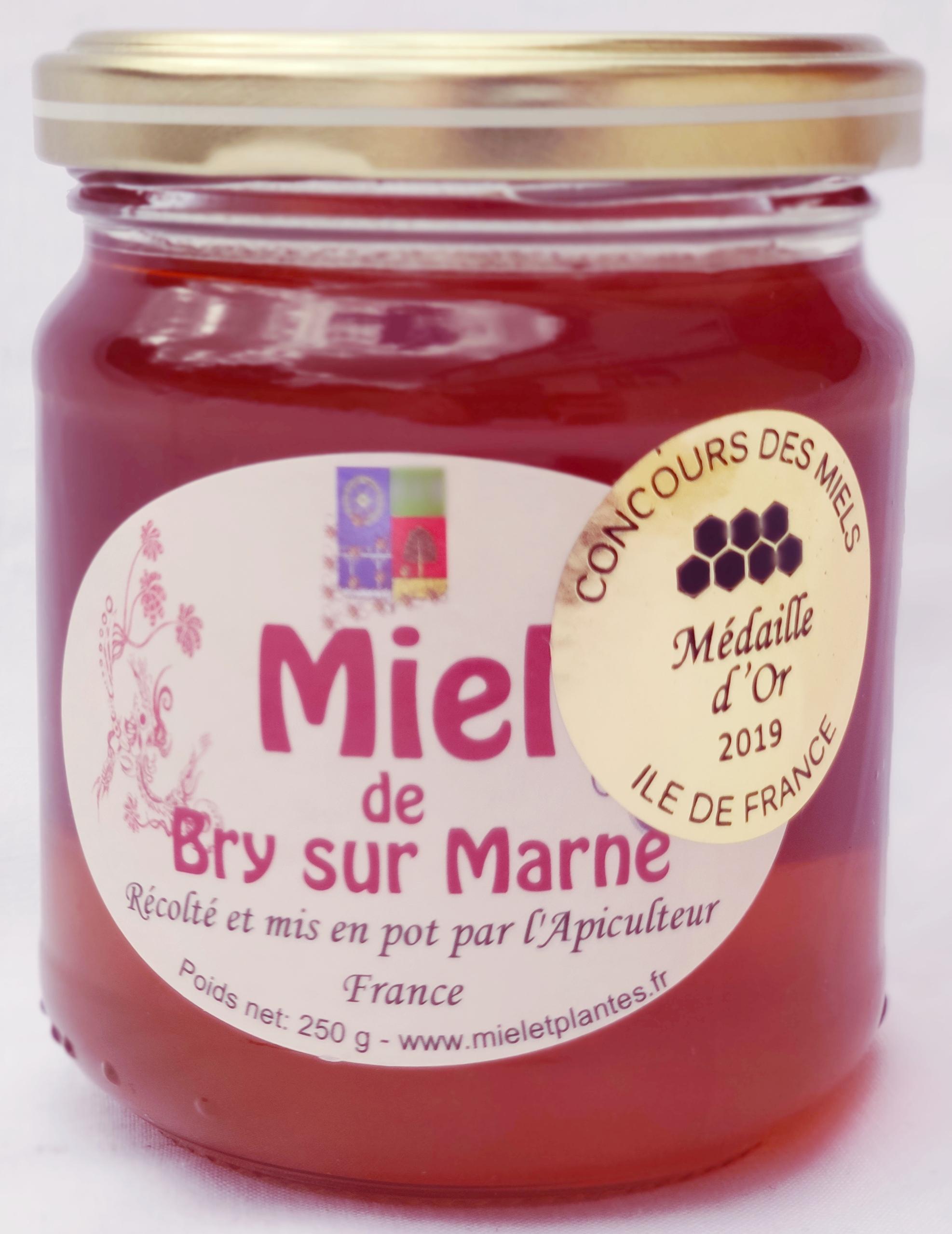 Miel toutes fleurs Médaille d'or 2019 au concours des miels Ile de France et de la Métropole du Grand Paris
