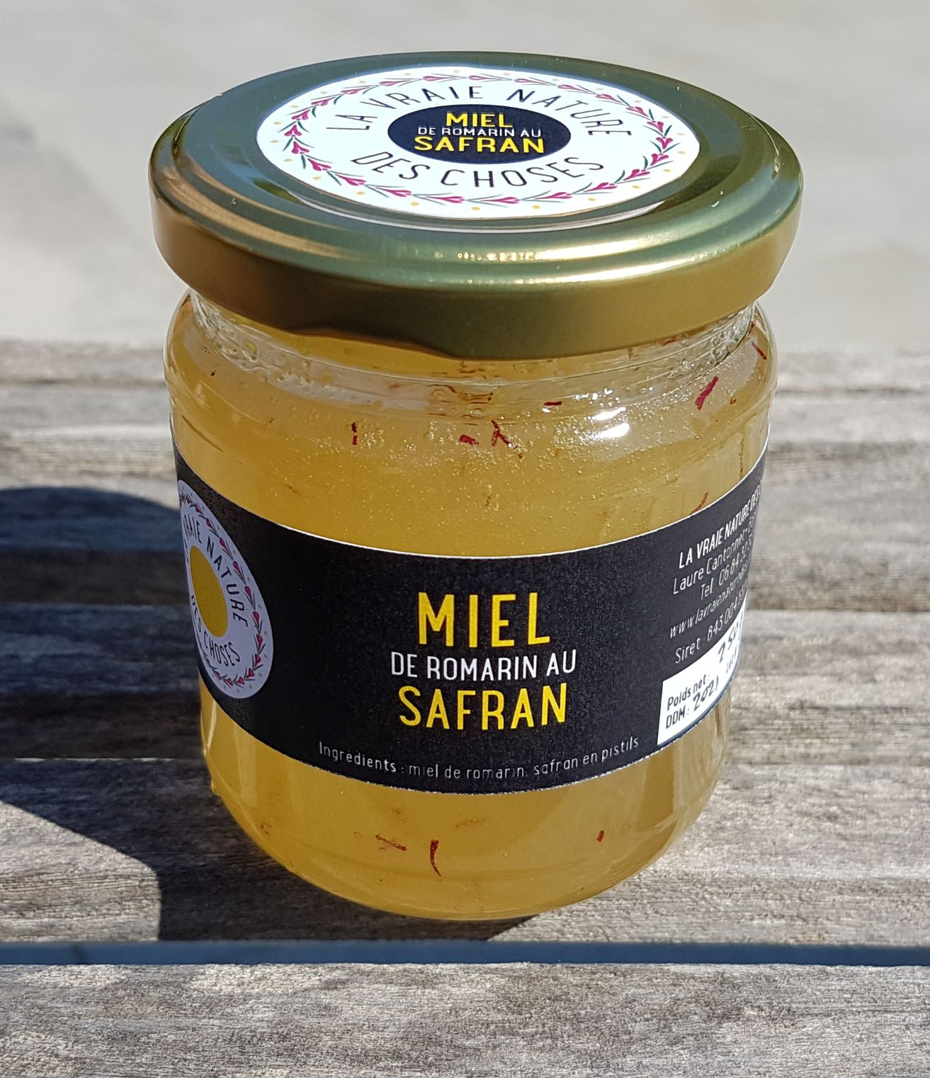 miel de romarin au safran