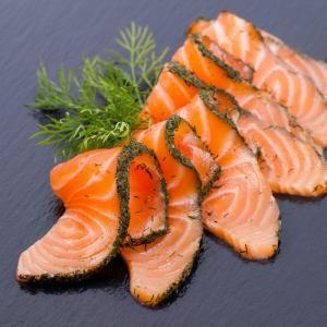 Saumon gravlax mariné