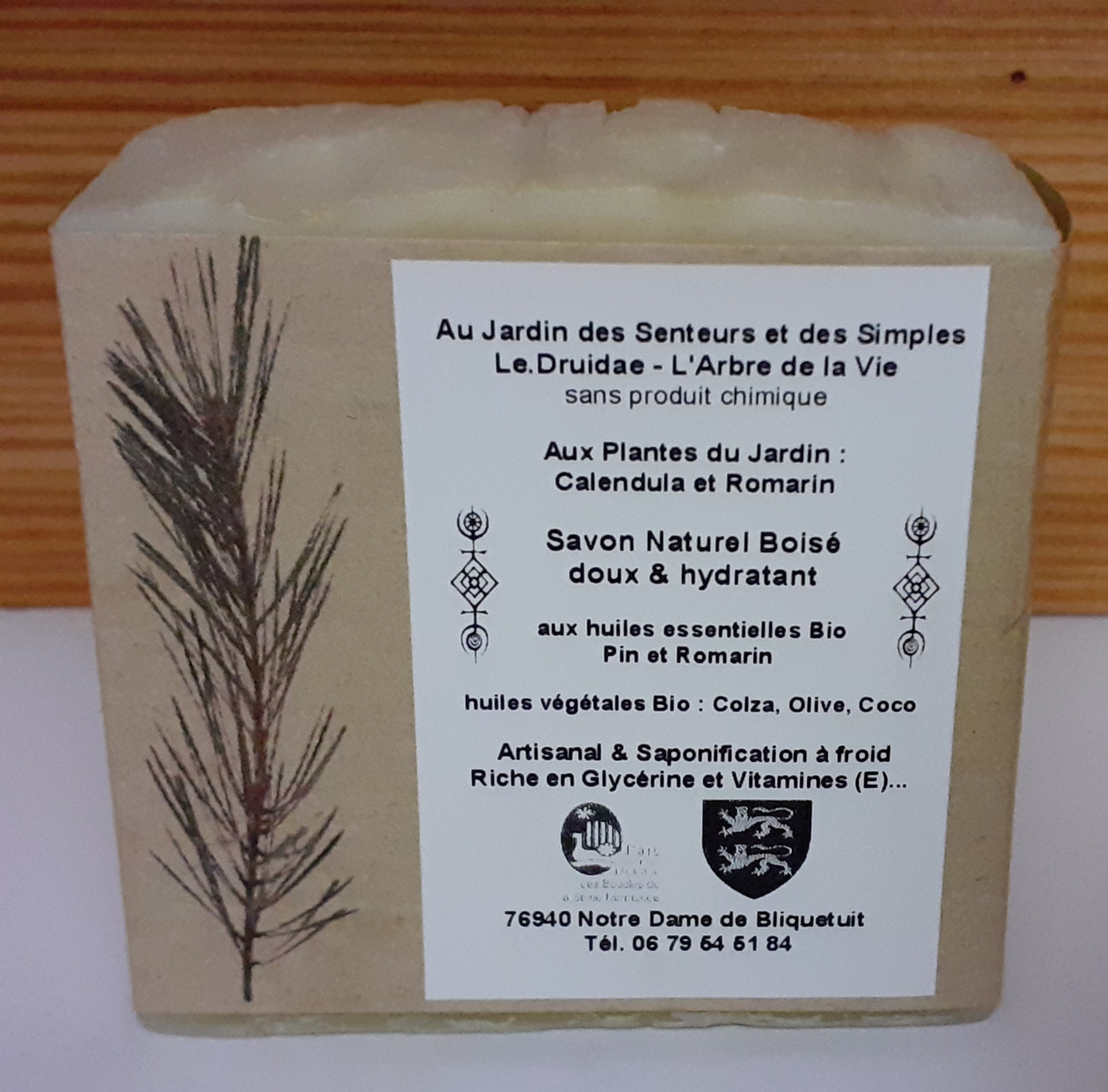 Savon Artisanal Naturel Boisé (Saponification à froid)
