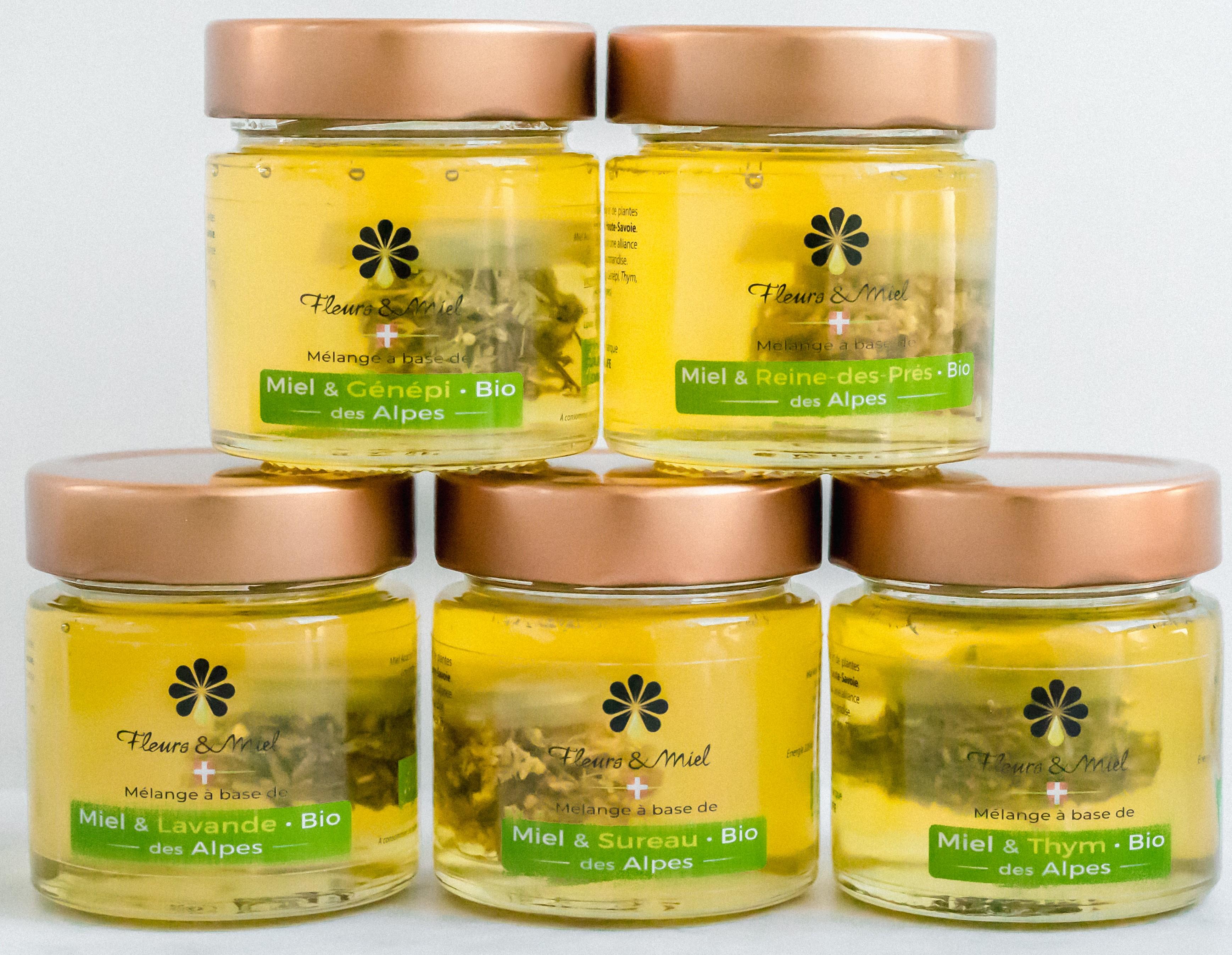 Infusion de miel d'Acacia et Plantes des Alpes BIO