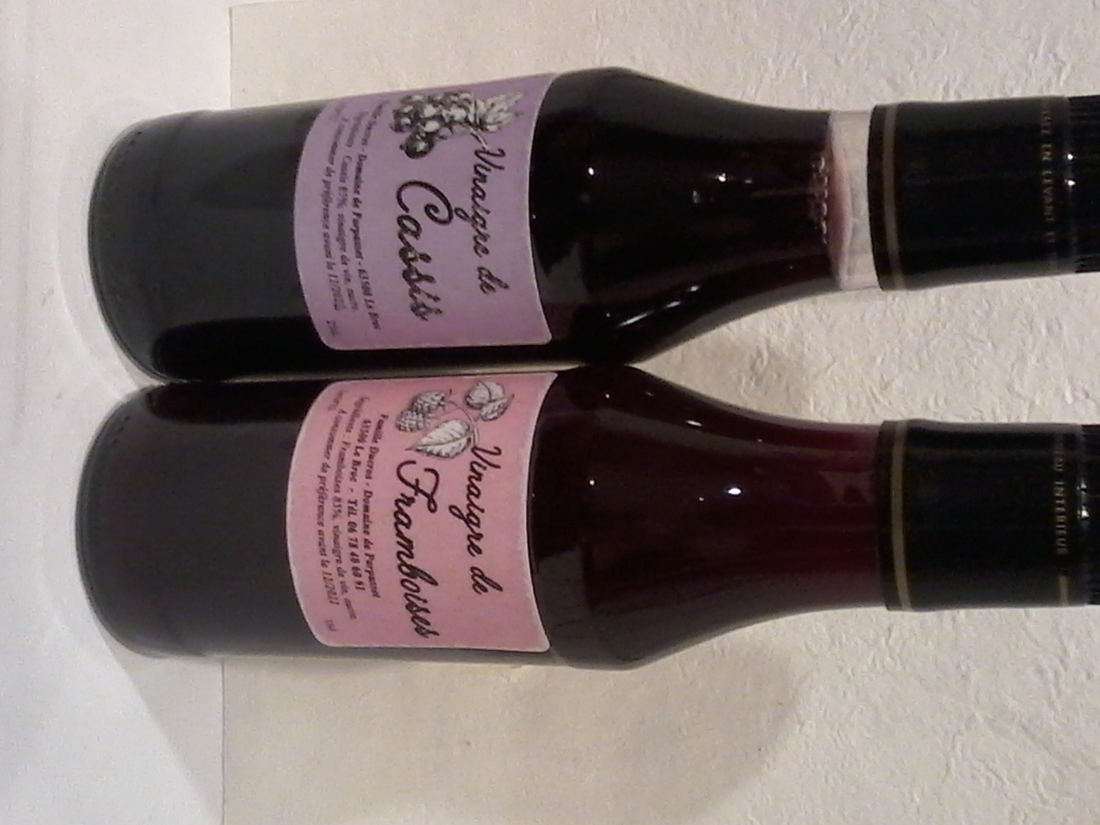 Vinaigre de Framboises, ou cassis