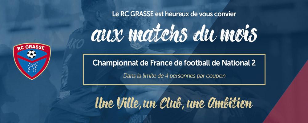 Racing Club de Grasse: 1 place offerte