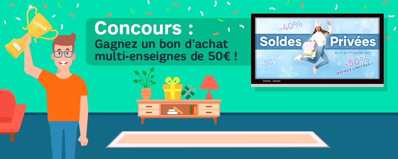 Tentez de gagner un bon d'achat de 50€ !